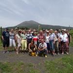 Gruppe vor dem Vesuv